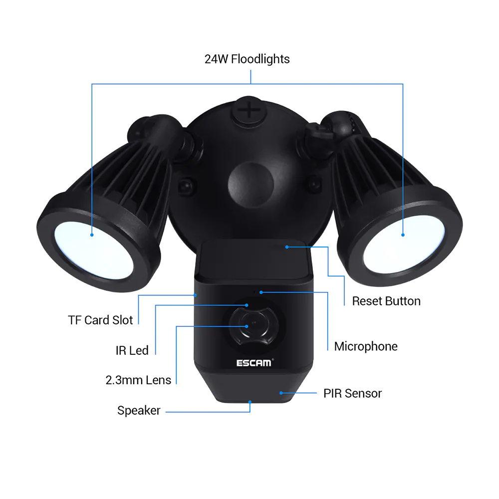 buy escam qf608 1080p wifi ip camera