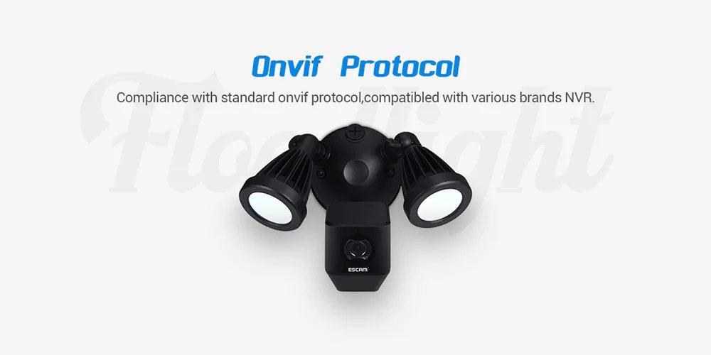 escam qf608 led floodlight wifi ip camera for sale