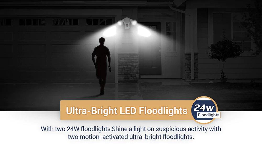 2019 escam qf608 led floodlight wifi ip camera