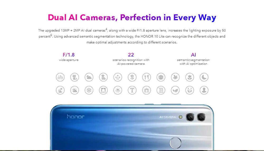 2019 huawei honor 10 lite smartphone