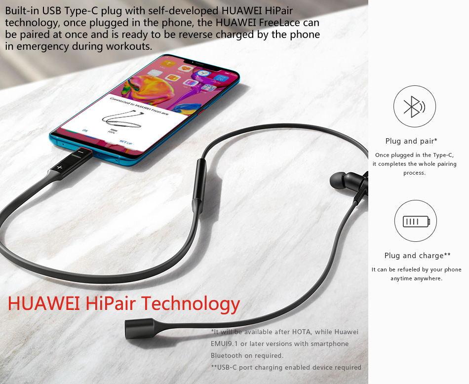 new huawei freelace wireless earphones