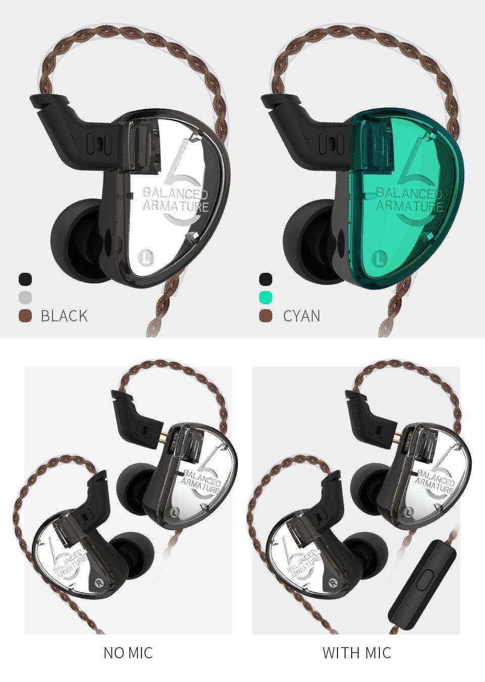 buy kz as06 wired earphones