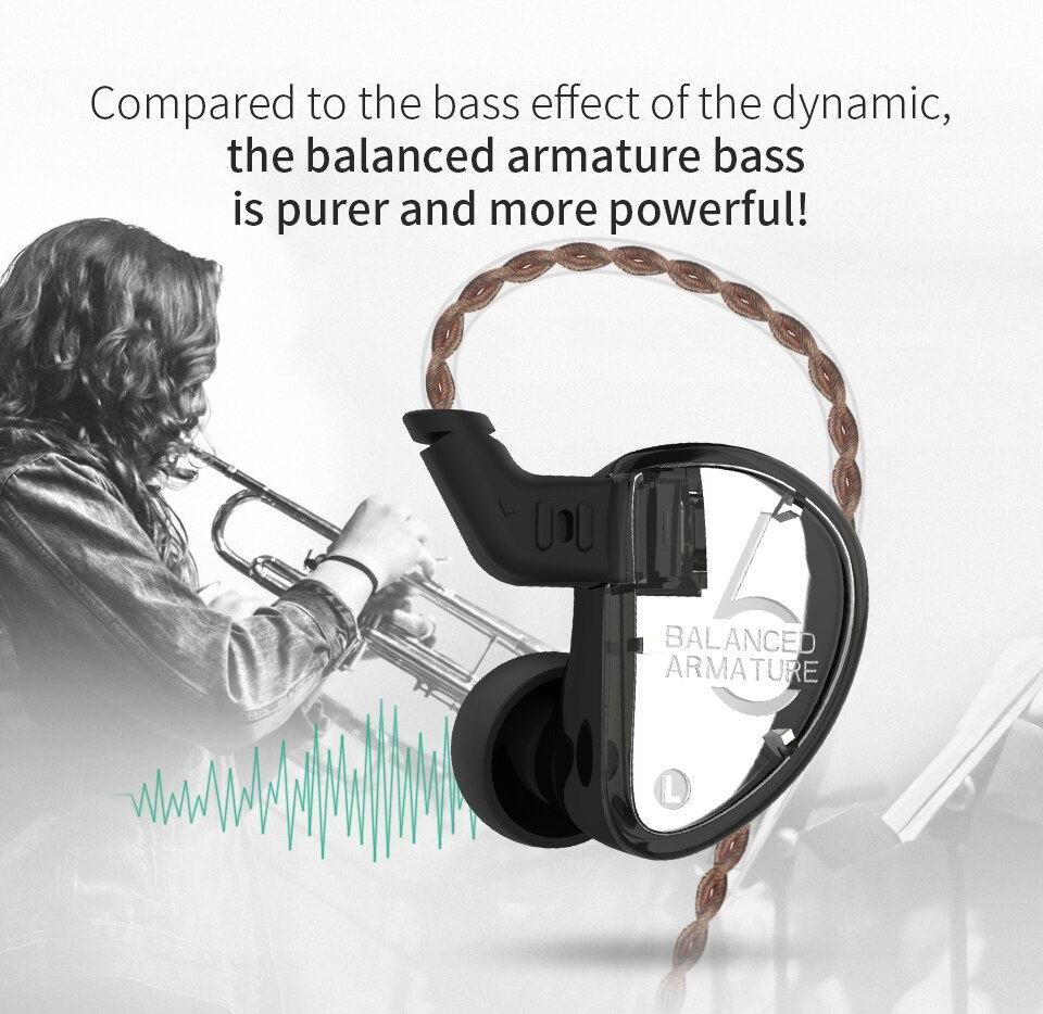 buy kz as06 in-ear stereo earphones
