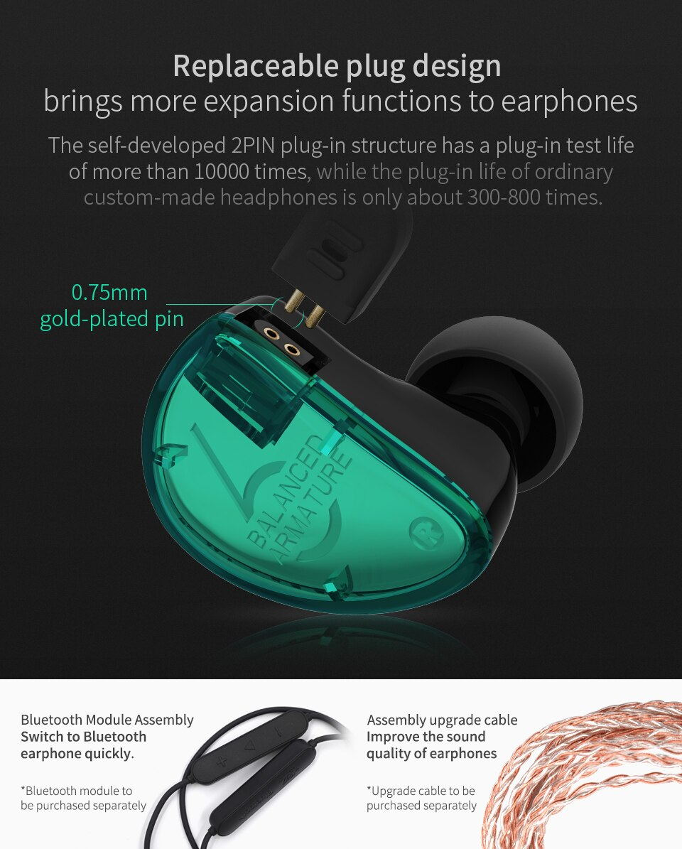 buy kz as06 stereo earphones
