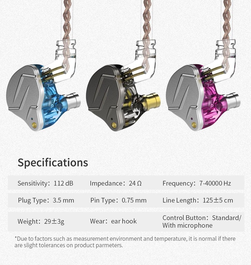 new kz zsn pro hifi earphones