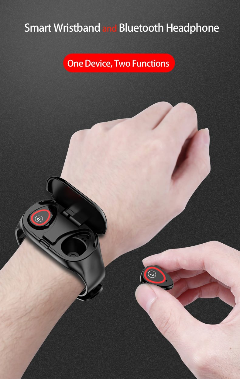 new lemfo m1 ai wristband bluetooth earphones
