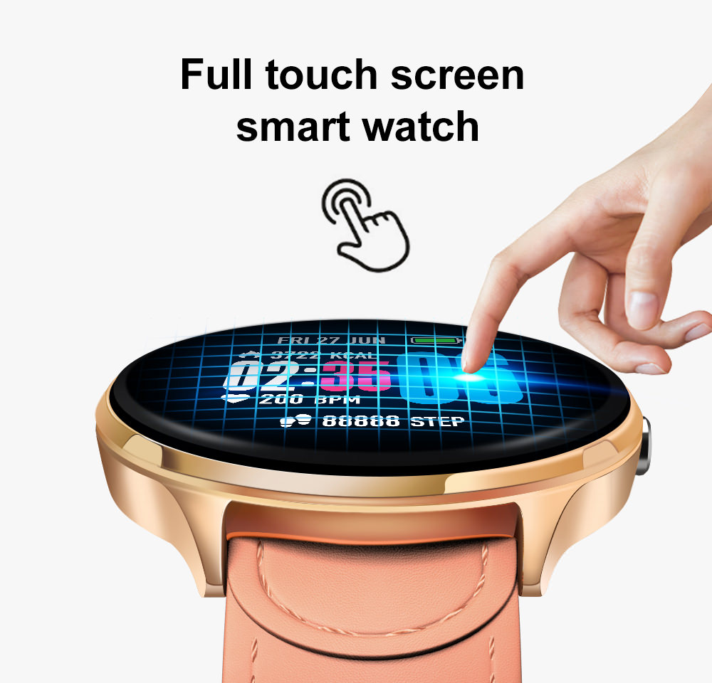 lemfo v12 full touch screen smartwatch