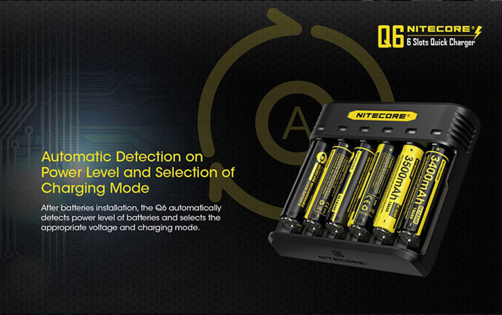 buy nitecore q6 battery charger