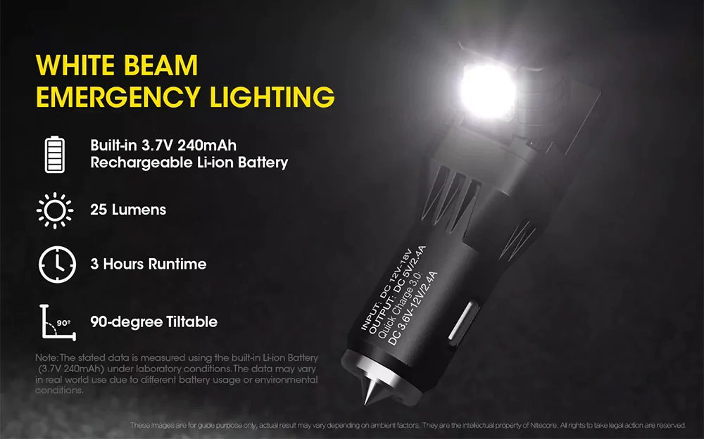 buy nitecore vcl10 car charger flashlight