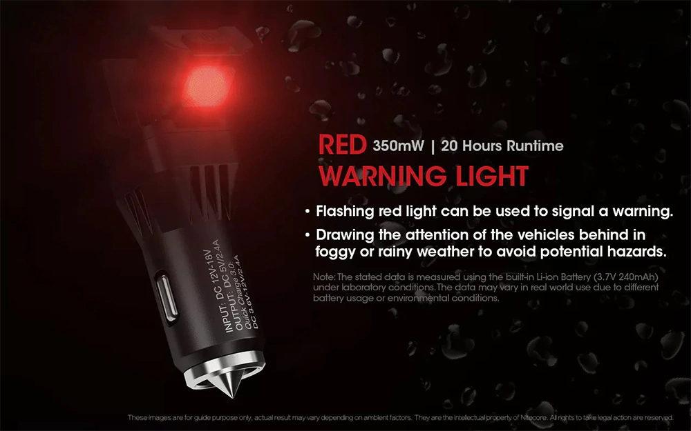 new nitecore vcl10 car charger flashlight