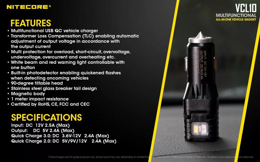 nitecore vcl10 25lm flashlight