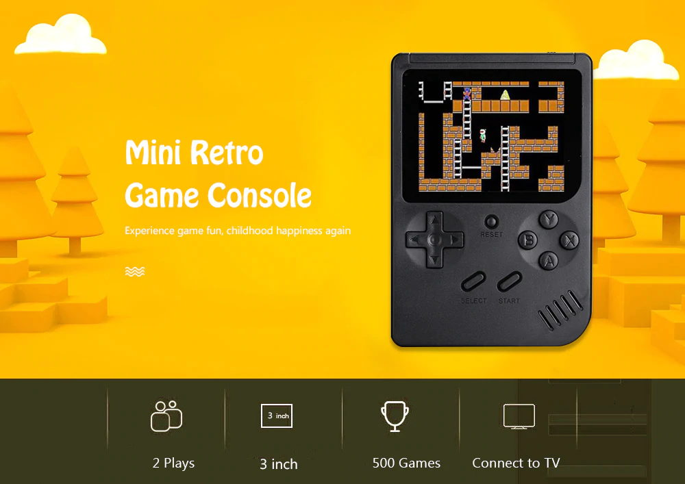 q3 retro handheld game console