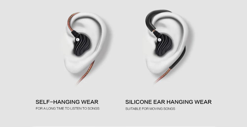 new qkz kd4 wired in-ear earphones