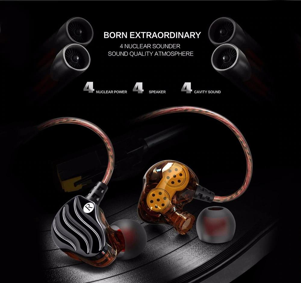 buy qkz kd4 wired hifi earphones