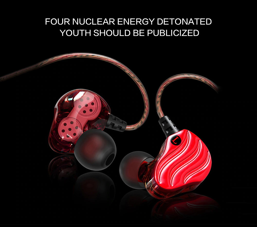new qkz kd4 wired hifi earphones