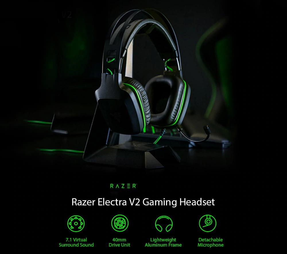razer electra v2 surround sound gaming headset