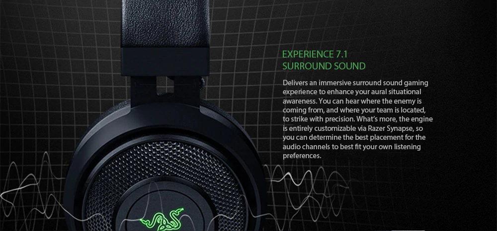 razer kraken surround sound gaming headset
