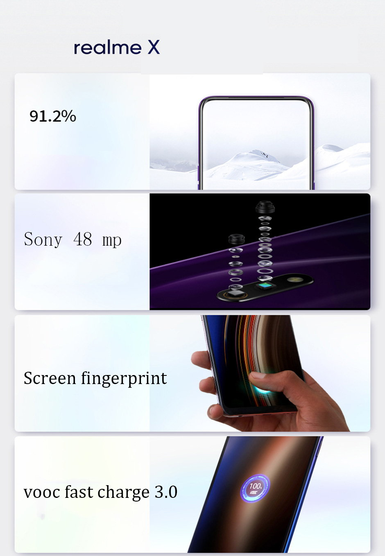 realme x smartphone 6gb/64gb