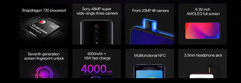 buy xiaomi redmi k20 4g smartphone 6gb/64gb