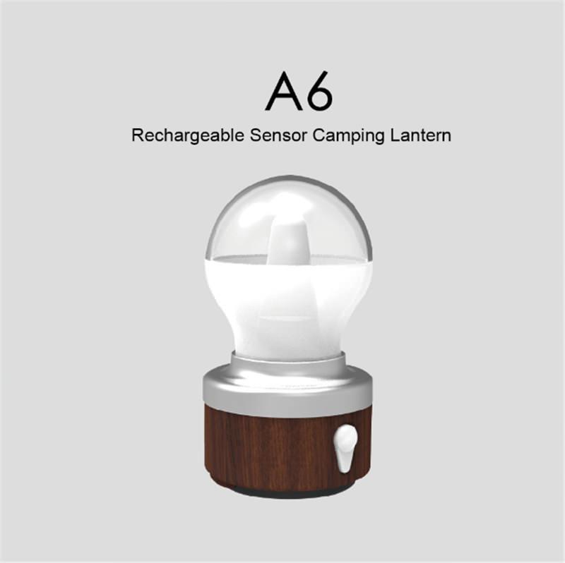 sunrei a6 rechargeable sensor camping lantern
