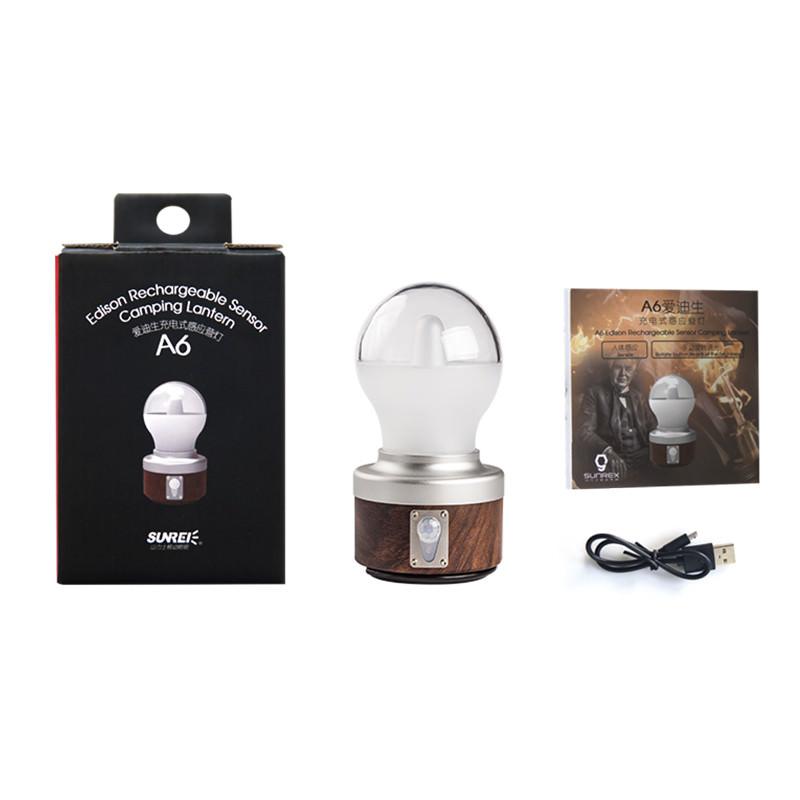 sunrei a6 sensor camping lantern 2019