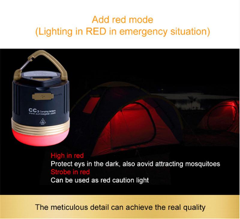 new sunrei cc3 camping emergency light