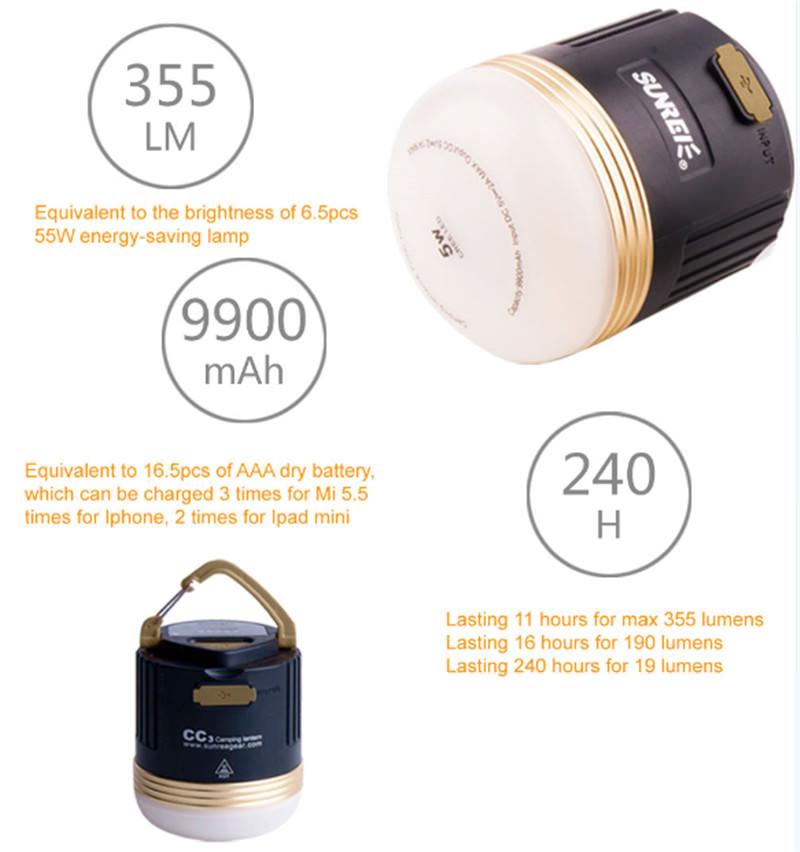 best sunrei cc3 camping emergency light