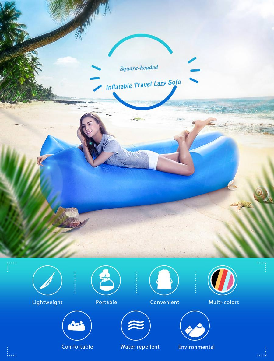 square-headed air inflatable lazy sofa