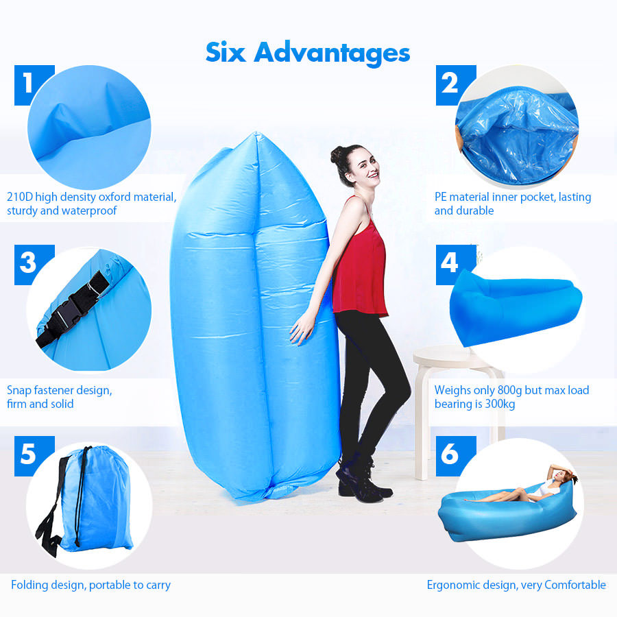 buy square-headed air inflatable lazy sofa