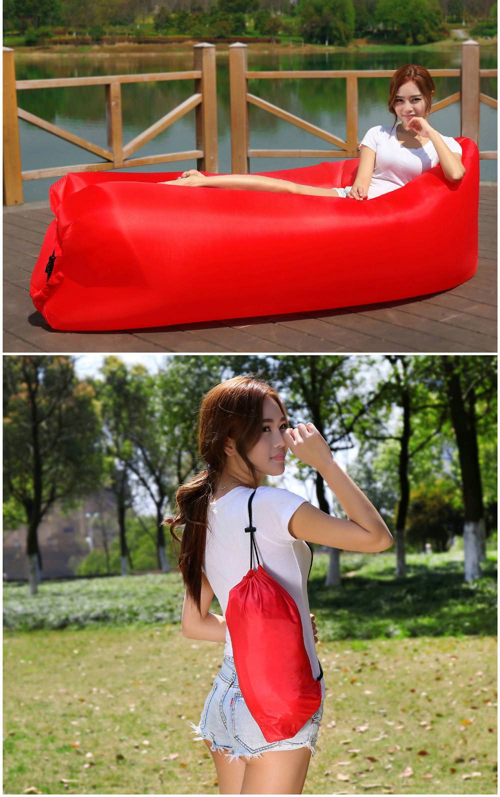 buy square-headed portable inflatable lazy sofa