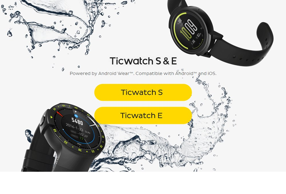 buy ticwatch e sports smartwatch