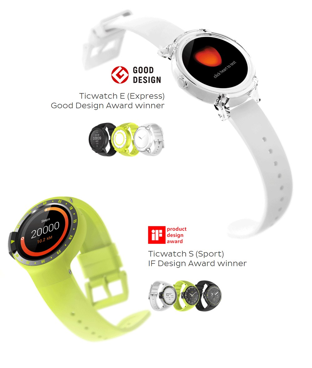 ticwatch e sports smartwatch 2019