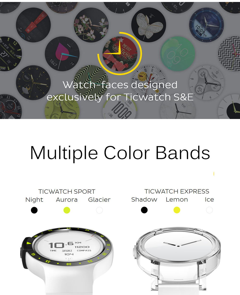 new ticwatch e sports smartwatch 2019