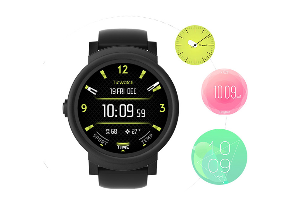 ticwatch e sports smartwatch 1.4inch