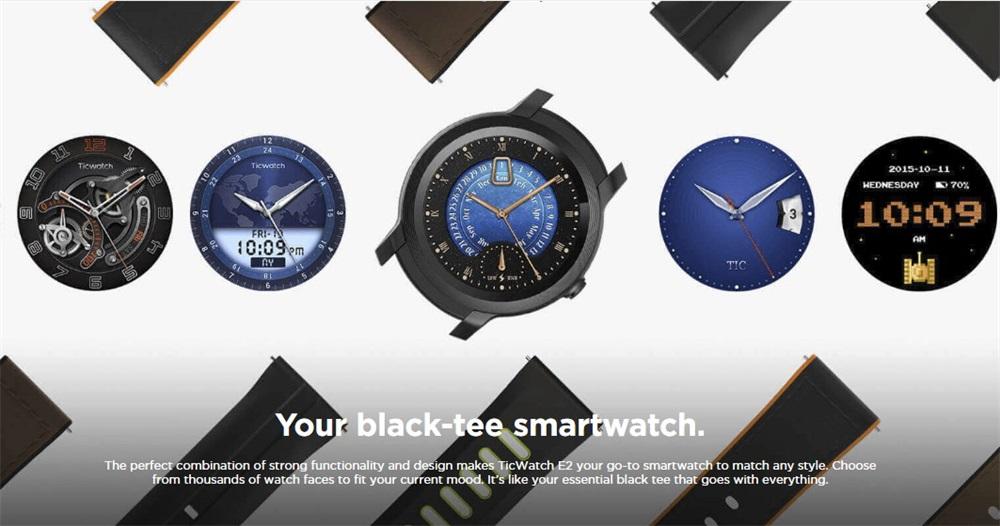new ticwatch e2 smartwatch