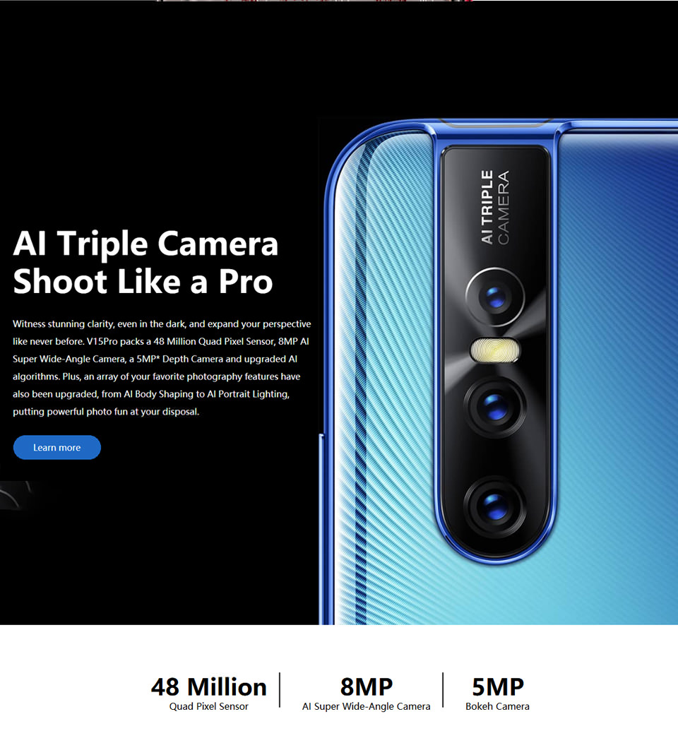 2019 vivo v15 pro smartphone