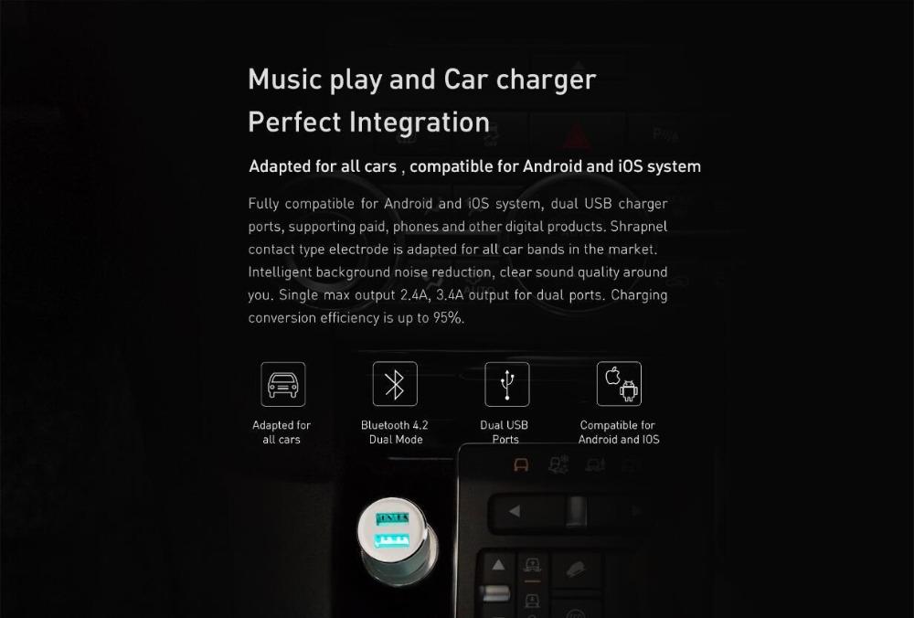 xiaomi mojietu music bluetooth car charger