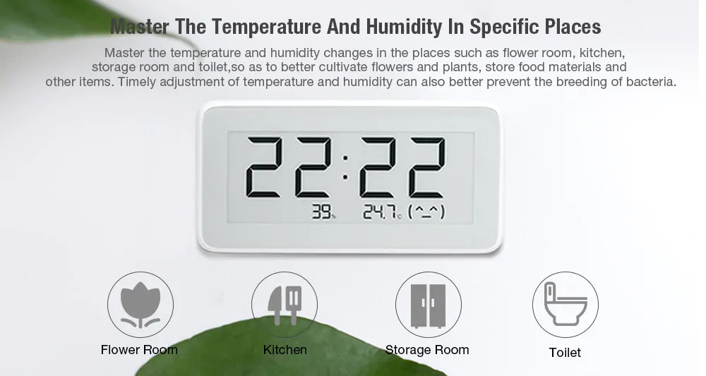 xiaomi mijia humidity monitoring meter