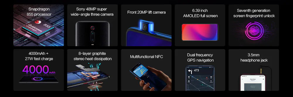 xiaomi redmi k20 pro 4g smartphone 6gb/128gb