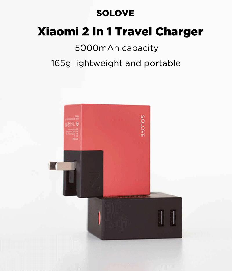 Xiaomi Solove W2 - combinación conveniente de cargador de viaje y banco de energía Xiaomi-SOLOVE-2-In-1-Adapter-1