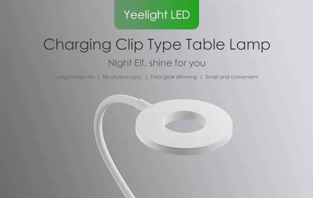 xiaomi yeelight 5w led clip-on table lamp