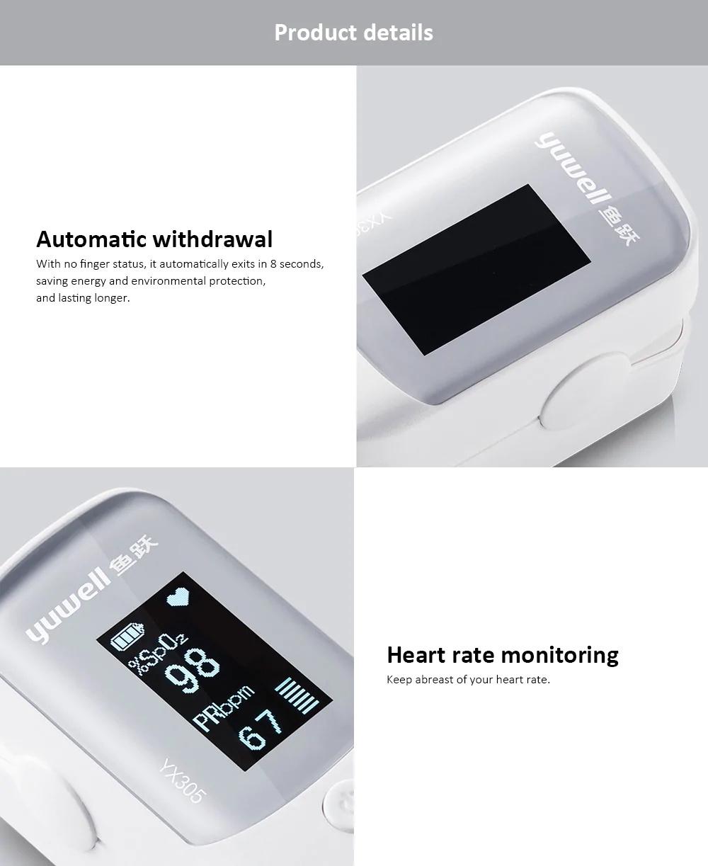 best yuwell yx305 fingertip pulse oximeter