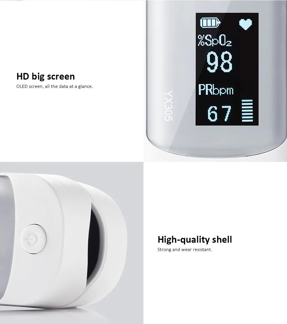 2019 yuwell yx305 fingertip pulse oximeter