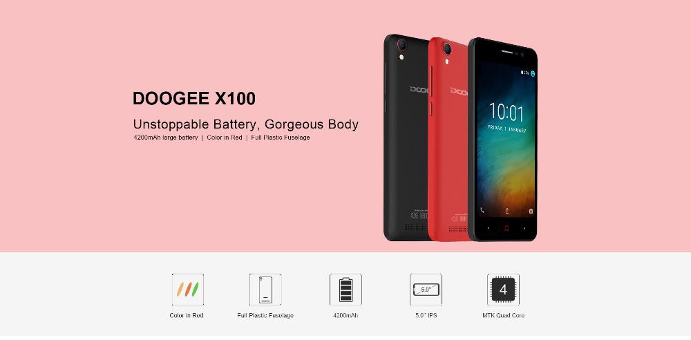 buy doogee X100 smartphone global version