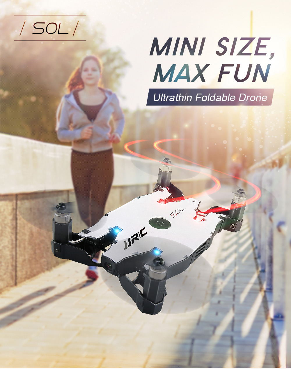 jjrc h49 sol mini foldable rc pocket selfie drone