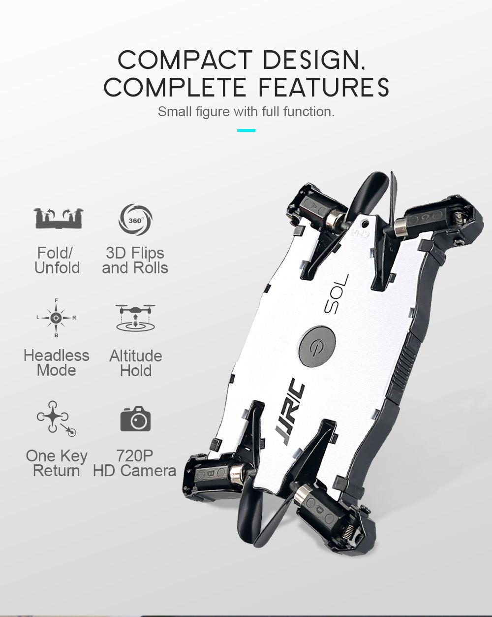 new jjrc h49 sol mini foldable rc pocket selfie drone