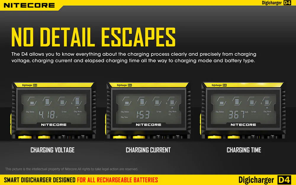 new nitecore d4 universal battery charger