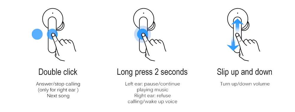 ticwatch ticpods free wireless headphone for sale
