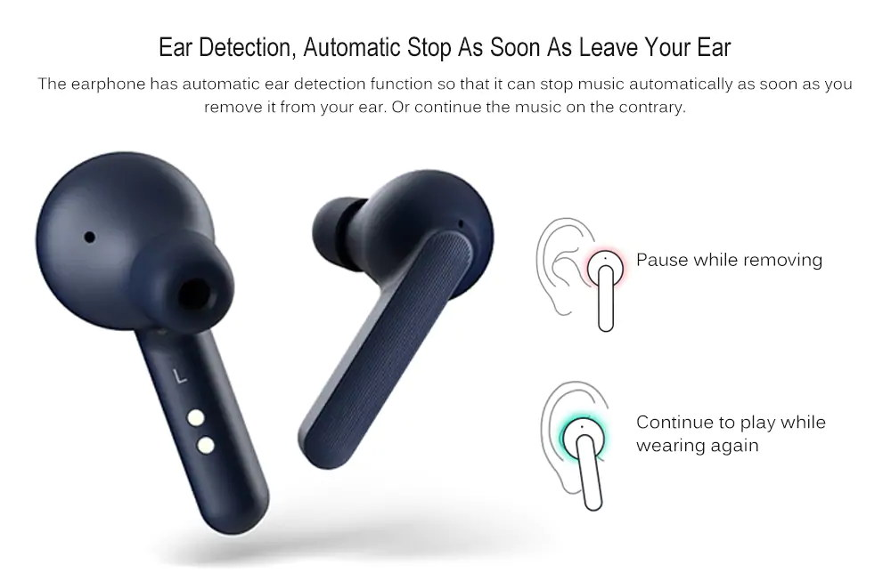 ticwatch ticpods free bluetooth wireless headphone
