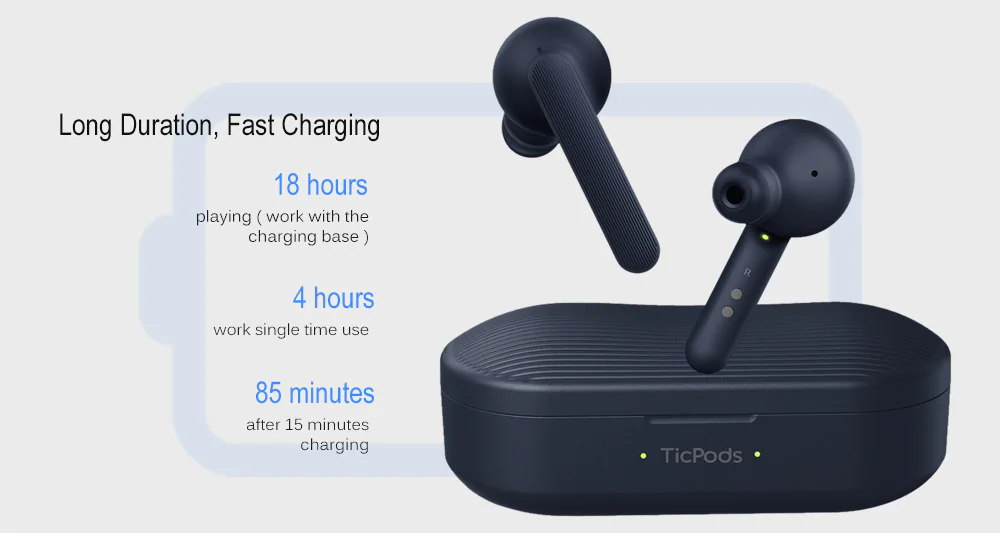 new ticwatch ticpods free bluetooth wireless headphone